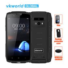 Vkworld VK7000 IP68 wodoodporny smartfon 5 2 In-Cell MTK6750T Octa Core Android 8 0 5600mAh szybka opłata 5 v 2A 4GB pamięci RAM 64GB ROM tanie tanio VK7000 4 GB 64 GB Nie odpinany Inne 13MP Nowy 1280x720 Adaptacyjne szybkie ładowanie Rozpoznawania linii papilarnych 2 karty SIM