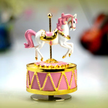 Romantic gold plated music box Carousel music box married birthday gift for girls home decor wedding gifts