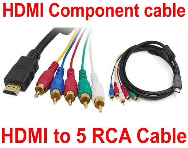 HD HDMI to 5 RCA Cable HDMI to Component Video+Audio AV Cable-in ...