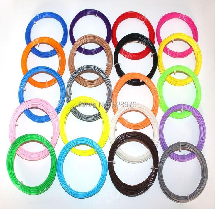 22 color o 20 color o 14 color o 10 color/set 3D filamento impresora ABS/PLA 1,75 MM 10 m caucho plástico consumibles Material 3d pluma