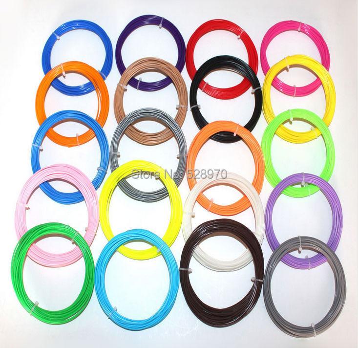 22 farbe oder 20 farbe oder 14 farbe oder 10 farbe/set 3D Drucker Filament ABS/PLA 1,75mm 10 mt Kunststoff Gummi Verbrauchs Material 3d stift