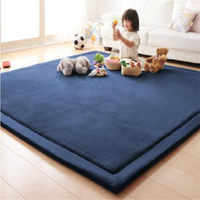 Thick Coral Cashmere Carpet Creeping Home Mat Living Room Bedroom Rectangle Rug Mattress