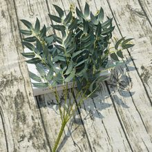 Fake willow jungle wedding artificial leaves bouquet backdrop decoration for Christmas faux foliage vine party home decor plant