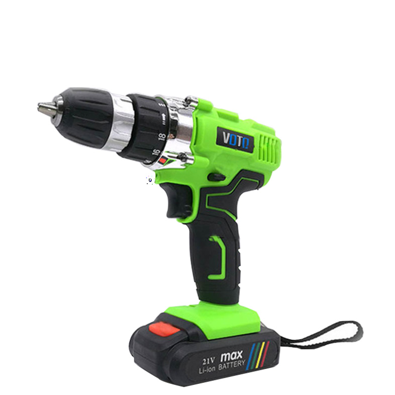 VOTO V6 Battery Rechargeable Cordless Drill Electric Screwdriver Set Lithium Power Tools Screw Gun Driver 21V Green voto v6 battery rechargeable cordless drill electric screwdriver set lithium power tools screw gun driver 12v 16 8v 21v pink