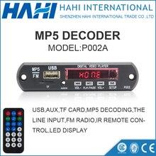 12 V/5 V Mp5 Audio Módulo Con IR de Control Remoto Placa del Decodificador MP5 Apoyo TF Crad Y USB
