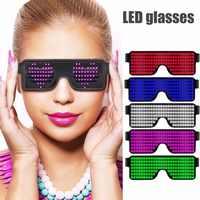 8 Modes Quick Flash Led Party Glasses USB Charge Glowing Party Luminous Glasses Christmas Concert light Toys Party Decoration