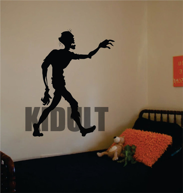 Halloween zombie walk home decor vinyl wall stickers removable wall ...