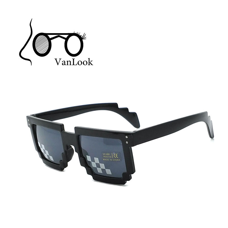 Pixel Glasses Party Festival Sunglasses Men Matahari untuk Wanita Oculos de Sol Masculinos Femininos 100% Anti UV400