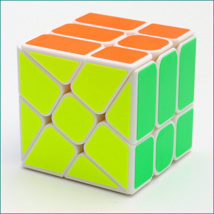 YJ Windmill Cube White 3x3x3 Shape Mod Twisty Puzzle Toy 3x3