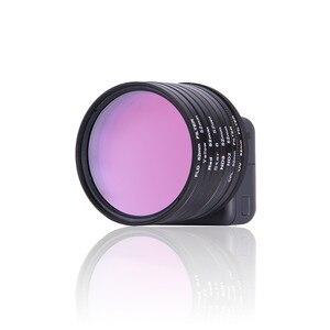 Image 3 - Anel adaptador de filtro de lente vermelha, 52mm uv cpl nd2 nd8 estrela 8 amarelo fld roxo anel adaptador para gopro hero acessórios para câmera gopro5 5 go pro