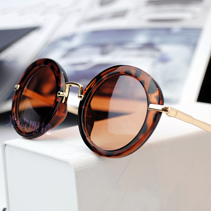 Nye drenge & piger Mode Børn Metal gyldent ben Rundt Solbriller - Beklædningstilbehør