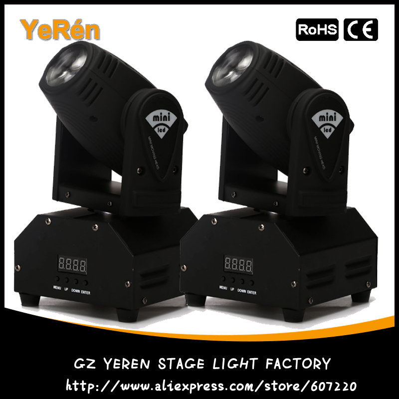 LED Mini Moving Head Beam Light RGBW 10w Cree Led Lamp DMX 12Channels DJ Light for Bar Home Party Club Wedding