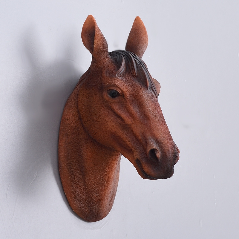 Horse Head Wall Hanging Simulation Animal Creative Simple Home Living Room Background Arts Crafts Sculpture Decoration In Statues Sculptures From
