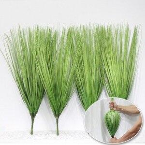 60 см искусственные листья моделирования лук трава Цветочные украшения из шелка Организация цветов газон инженерные декоративные растения