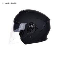 Motorhelm Half Gezicht ABS Motorhelm Veilig Racing helm Motorhelm Voor Vrouw/Man