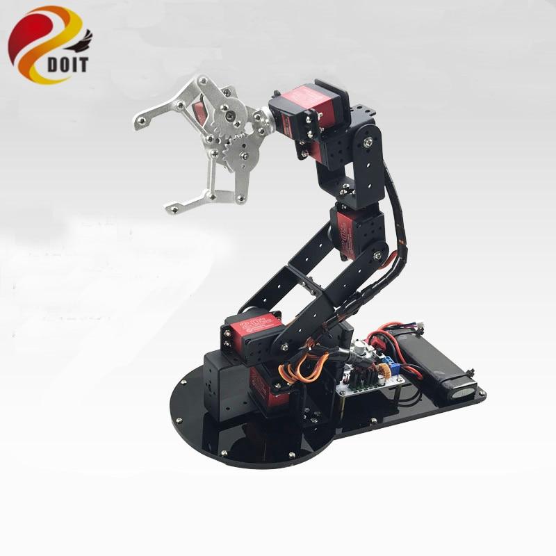 Official DOIT 6 DOF Mechanical Arm 3D Rotating Mechanical Arm Full Metal Structure Bracket & MG996R Servo
