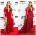 Jennifer Billboard Music Awards V profundo Long Neck mangas ver através Red Chiffon Red Carpet celebridades vestidos vestidos 2016 nova