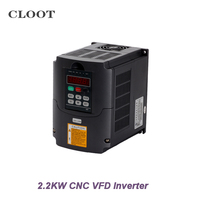 2 2KW VFD Variable Frequency Drive VFD Inverter 3HP Input Inverter 220V 110V For CNC Spindle