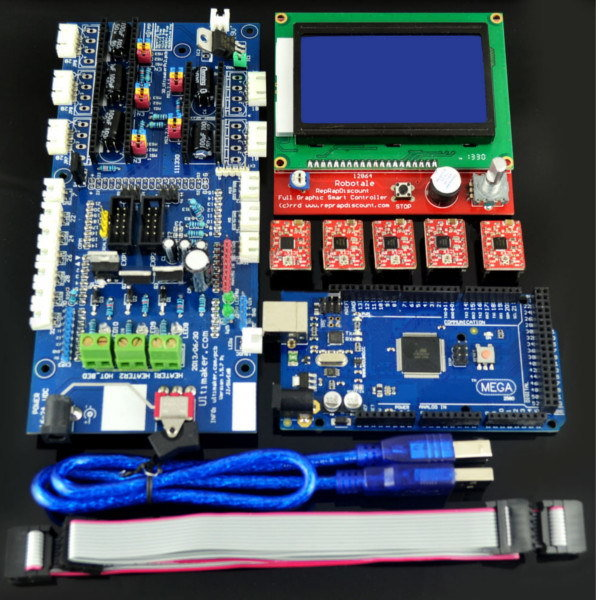ФОТО Free Shipping Factory directly selling LCD 12864 RAMPS1.57 Control Board A4988 Driver Mega2560 R3 Development Board For 3D