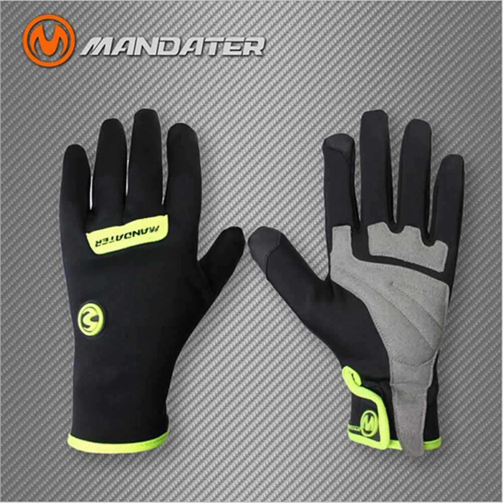 2019 Mandater Cycling Gloves Men Women MTB Waterproof Winter Bike Gloves Full Finger Keep Warm Shockproof Ciclismo Bicycle Glove