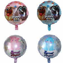 10pcs 18inch Round Unicorn Horse Foil Balloons Pet Dog Helium Balloon Kids Toys Wedding Birthday Animal Party Decor Supplies