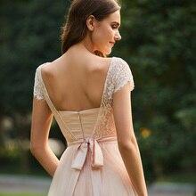 فستان مناسبات أنيق من الشيفون المنفوش ونصف أكمام