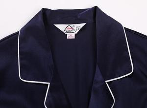 Image 4 - 100% Pure Silk Womens Classical Pajama Set Sleepwear Nightgown M L XL YM007