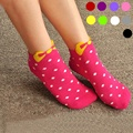 1 pair New Top Fashion Rushed Warm Candy Color Dot Bow Cotton 3d Womens Female Socks Hot