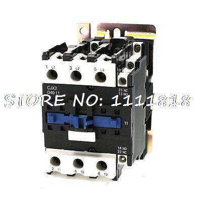 36V Rated Coil Voltage 3 Phase 1NO+1NC CJX2-4011 Alternating Current Contactor