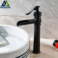 New Pump Shape Bathroom Washing Basin Faucet One Handle Countertop Basin Sink Mixers With Hot And