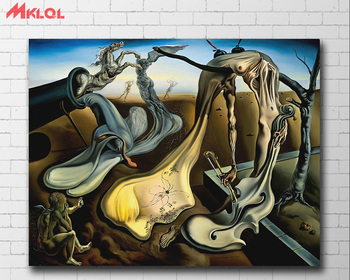 Wall Art Salvador Dali Depict a night Painting For Living Room Home Decor Oil Painting on Canvas Wall Painting Unframed 3