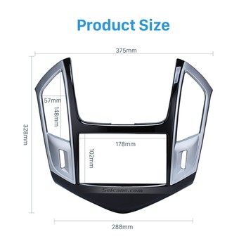 Seicane 2DIN Car Radio Fascia For Chevrolet Cruze Stereo Dashboard Fitting Kit Frame Surrounded Install Trim Panel