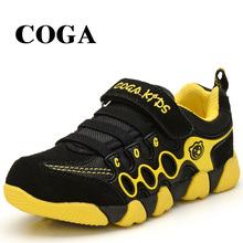COGA 2017 new childrens shoes leather boy TPR antiskid sports