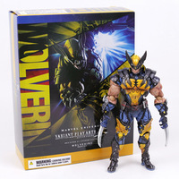 Play Arts Kai Marvel X MEN Wolverine Logan PVC Action Figure Collectible Model Toy