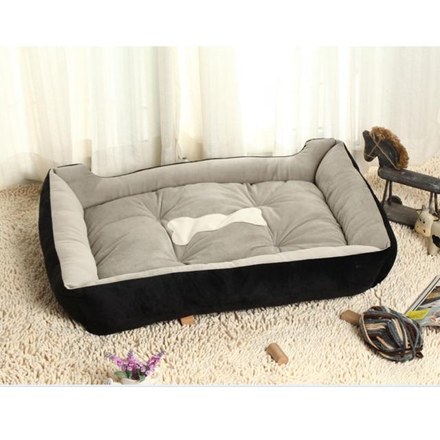 6 Size Soft Fleece Pet Dog Bed Cushion Bone Print Large Breed Dog Beds For Labrador Golden retriever Summer Dog Mat 1