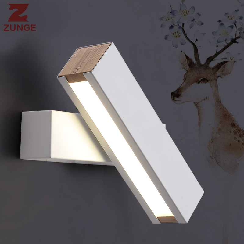 ZUNGE Wall lamp living room bedroom bedside light simple modern rotatable LED lamps P695 creative aisle wall night light american simple bamboo wall lamps creative personality post modern living room bedroom bedside lamp hotel aisle study wall light
