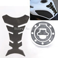 Motorcycle Fuel Tank Decal Pad + Gas Cap Pad Cover Sticker Decoration Protector Sticker For Suzuki GSXR 600 750 GSF 250 400 1200
