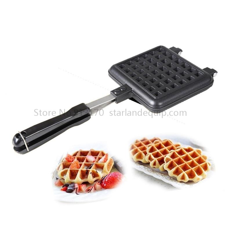Square Waffle Maker Non-stick Single Mould Waffle Iron Aluminum Waffle Baking Bakeware Belgium Waffle Baking Tool цены онлайн