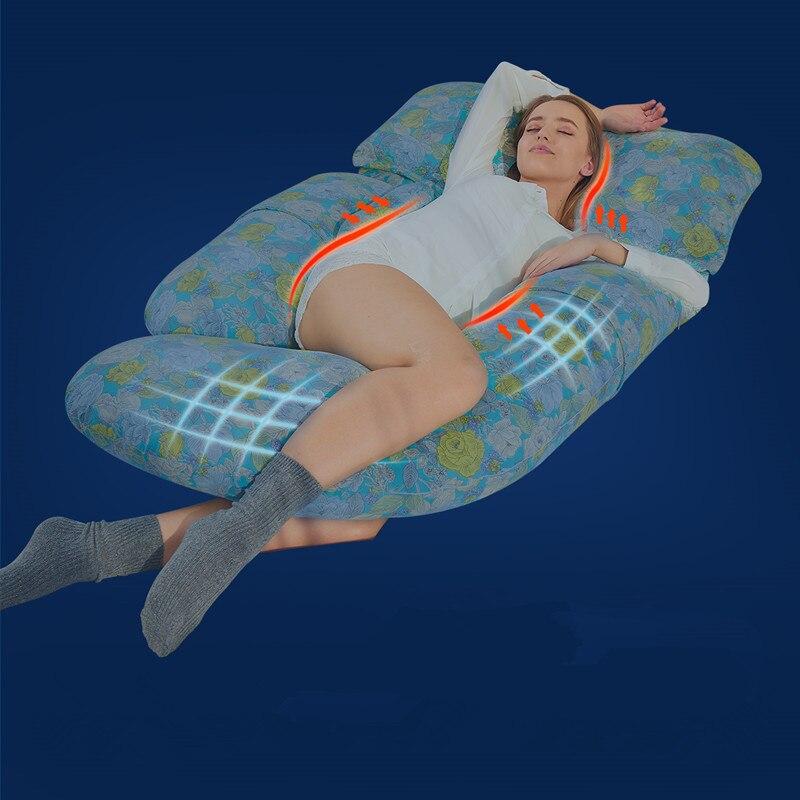 U maternidade cintura apoio para trás travesseiros gravidez sono corpo travesseiro mulheres grávidas amamentação travesseiro lado sleepers almofada - 3