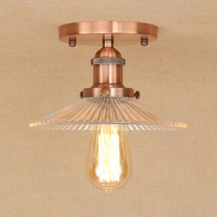 где купить IWHD Glass LED Lamp Kitchen LED Ceiling Light Vintage Bedroom Plafondlamp Living Room Lampara Techo Home Lighting Fixtures по лучшей цене