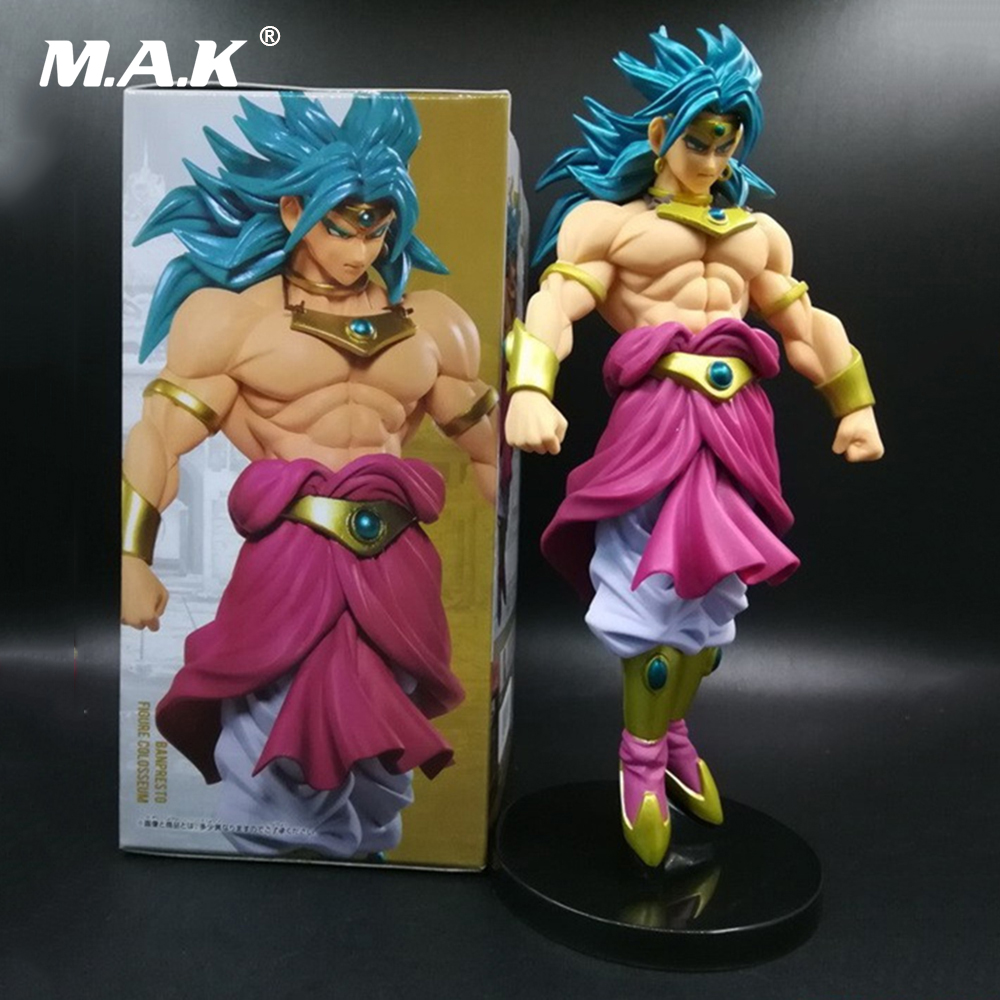 20CM PVC Banpresto Sculptures 7 Dragon Ball Z DBZ Super SaiYan Brolly Action Figure Model Toys Dolls Gifts with Box 6 piece 10 14cm super mario action figure evade glue fair young car furnishing articles model holiday gifts ornament box packed