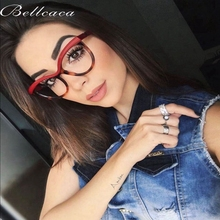 Bellcaca Optical Round Glasses Women Prescription Spectacles Fashion Clear Lens Eyewear Eyeglass Frames Protective Glasses BC831 giantree safety safe glasses work spectacles specs sports lab goggle protective eyewear clear lens eye glasses protective