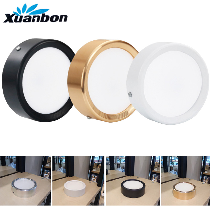 Ultra-thin Led Downlight 4 Colors 3W 5W 7W 9W 12W 15W 20W Surface Mounted AC220V LED Spot Lighting Led Ceiling Lamp  Home Decor