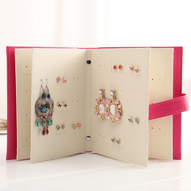 Design Jewelry Boxes And Packaging Pu Leather Stud Earrings Jewelry Gift Box
