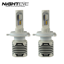 H4 LED Headlight Hi-Lo NIGHTEYE Haz Coche LED Faros Bombilla Cabeza lámpara de la Luz de Niebla 12 V Automóviles hb4 Auto LED H4 Faro de Haz