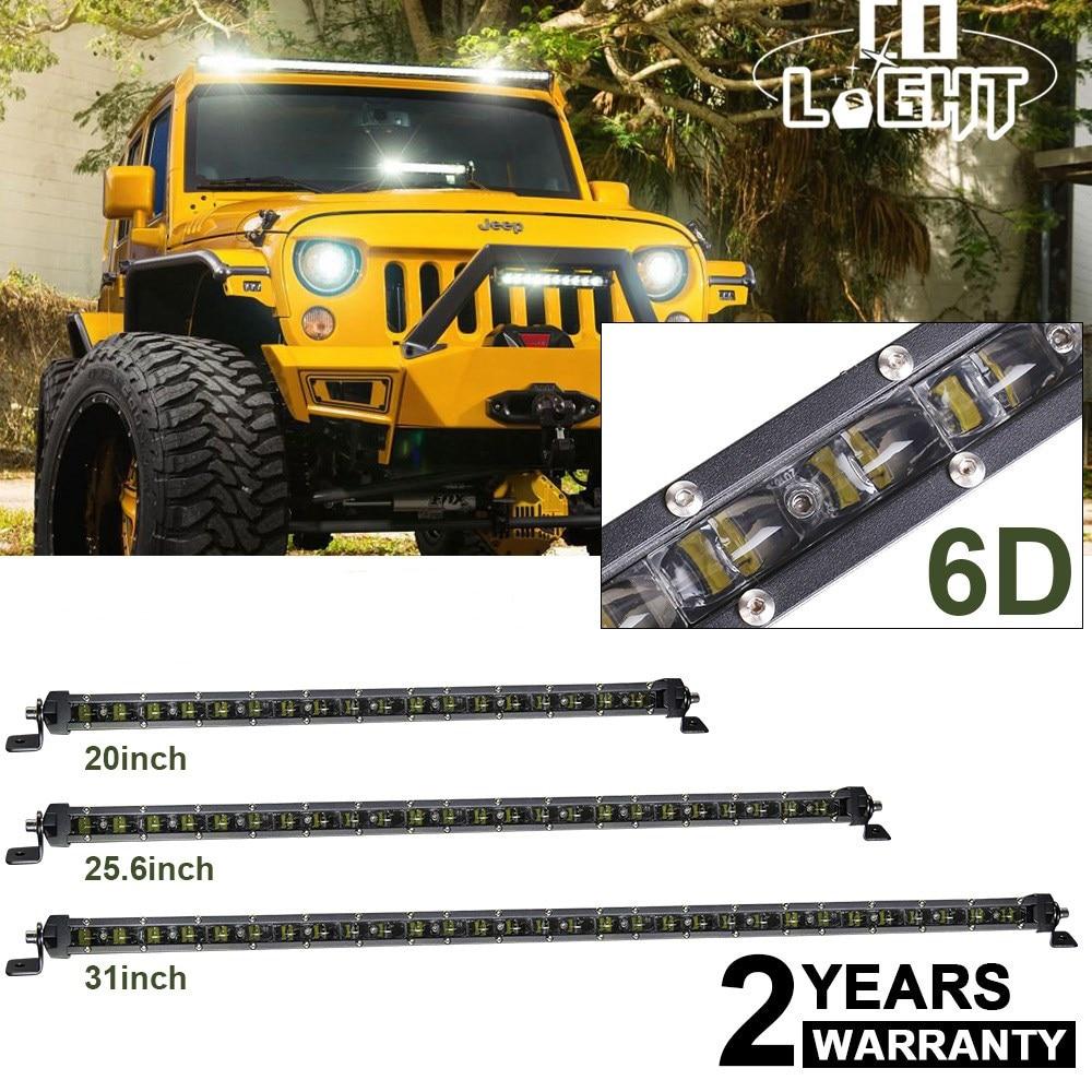 CO LICHT 20 25,6 31 zoll 90 watt 120 watt 150 watt Offroad 6D Led-lichtleiste Spot Flut Combo strahl für Lkw SUV ATV Hummer 4x4 Led Bar 12 v
