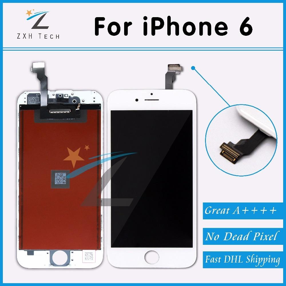 imágenes para 10 UNIDS/LOTE Alibaba China 100% Sin Píxeles Muertos para el iphone 6 Pantalla LCD de 4.7 Con Pantalla Táctil Digitalizador Asamblea Reemplazo a través de DHL