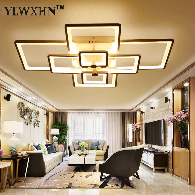 2017 direct selling ce ac the new rectangle acrylic led ceiling light modern living room - Living Room Ceiling Lights Modern