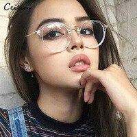 e989ecb8a 2019 New Clear Glasses Women Round Eyeglasses Frame Transparent Spectacle  Frames Fake Glasses Female oculos de grau