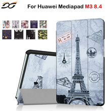 Colorful Case for Huawei MediaPad M3 8.4/ NTT docomo dtab d-03G Magnetic Stand Protective Case Cover for Huawei M3 8.4 inch(China)
